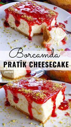 Borcamda Pratik Cheesecake – Nefis Yemek Tarifleri – Tatlı tarifleri – The Most Practical and Easy Recipes How To Make Cheesecake, Cheesecake Recipes, Cookie Recipes, Dessert Recipes, Desserts, Vegetarian Recipes Easy, Yummy Recipes, Mini Cheesecakes, Dessert Bars