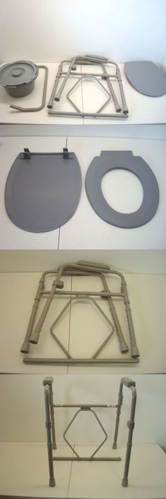 Toilet Frames and Commodes: Nova Medical Products 8700-R Folding Commode BUY IT NOW ONLY: $36.95