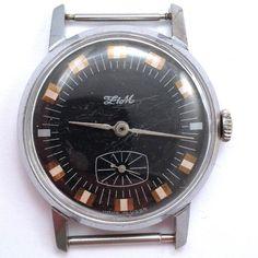 Russian ZION Wind-up Watch Vintage Soviet ZIM Cal2602 1970s *US SELLER* #605 #ZION