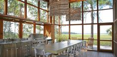 How awesome is this outdoor/screened in kitchen?!