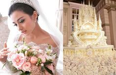 Indonesian celebs' fairy-tale wedding stuns with 4.5m castle cake
