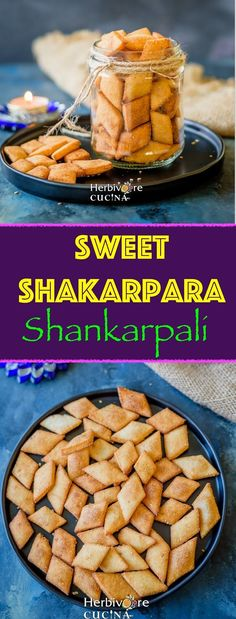 Fried flaky melt-in-the-mouth Indian snack, Sweet Shakarpara is a Diwali MUST-HAVE recipe. Made from simple pantry essentials, this is a . Indian Snacks, Indian Food Recipes, Vegan Recipes, Indian Sweets, Diwali Snacks, Diwali Food, Diwali Recipes, Vegetarian Snacks, Best Breakfast Recipes