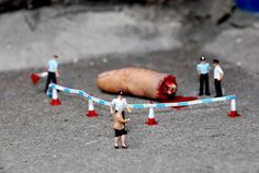 'Little People', which installs tiny scenes in urban areas, London-based artist Slinkachu