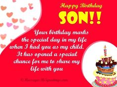 Colorful Best Birthday Wishes For Son Pictures Good Happy