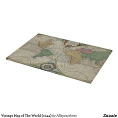 Vintage Map of The World (1744) Cutting Board