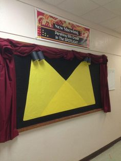 Spotlight student work with an on stage bulletin board. Show off kids' achievements!