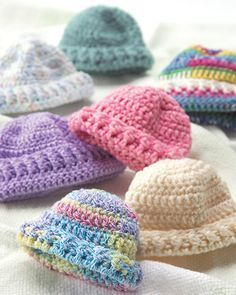 Best Free Crochet » Free Preemie Hats Crochet Pattern From RedHeart.com