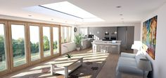 #architecture #space #open #kitchens #sunrooms #modern