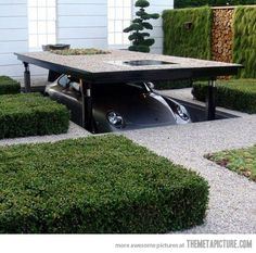 Wallace and Gromit inspired driveway… How cool would this be?!