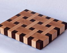 Walnut and Maple end grain basketweave chopping board