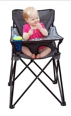 A Portable High Chair! Perfect for picnics or camping this Spring and Summer!