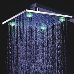 Are you looking for cheap LED shower heads online in Canada? Here choose the best LED shower heads that is right for you! Ceiling Shower Head, Brass Shower Head, Led Shower Head, Rain Shower, Shower Heads, Contemporary Shower, Modern Shower, Contemporary Bathrooms, Kansas City