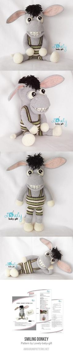 Smiling Donkey Amigurumi Pattern