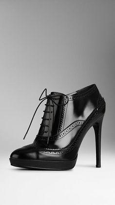Brogue Platform Ankle Boots