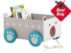Buy Great Little Trading Co Mr Bear Book Storage Box Cart from our Children's Storage & Toy Boxes range at John Lewis & Partners. Cube Storage Unit, Toy Storage Boxes, Storage Cart, Book Storage, Kids Storage, Toy Boxes, Diy Toy Box, Storage Ideas, Muñeca Diy