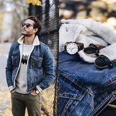 "Adam Gallagher on Instagram: ""On iamgalla.com today... 'Calendar days' feat. @danielwellington in the last bit of autumn leaves ('iamgalla' gets you %15 off their website) #danielwellington #menswear (: @on_abbotkinney)"""