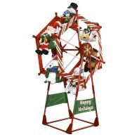 This Airn Inflatable Christmas Ferris Wheel Actually Rotates Bring Some Whimsical Fun To Your Yard And Watch Santa Penguins Snowmen Take A Ride