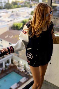 bomber jacket, varsity jacket, baseball jacket, sporty coat for fall