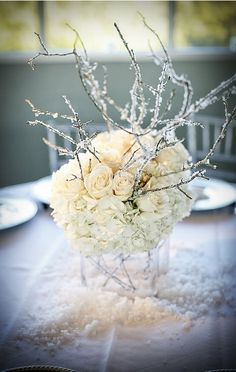 Google Image Result for http://weddingfrance.files.wordpress.com/2012/01/winter-wonderland-centerpiece-with-hydrangea-roses-and-branches.jpg