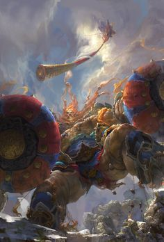 Monkey King Julin God war by Fenghua Zhong | Illustration | 2D | CGSociety