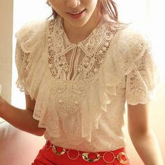 Ruffled Lace Top from #YesStyle <3 Ringnor YesStyle.com