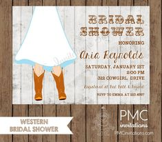 explore western bridal showers