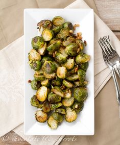 Lemon Roasted Brussel Sprouts wiht Pine Nuts by chocolateandcarrots #Brussel_Sprouts