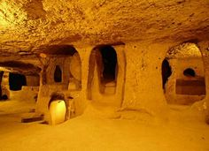 In 1963, a man in the Nevşehir Province of Turkey knocked down his basement wall. Behind it, he found a mysterious room and soon discovered an intricate tunnel system with additional cave-like rooms. Unbeknownst to him, he had just discovered the ancient underground city of Derinkuyu.