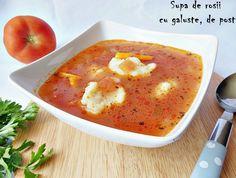 Reteta Supa de rosii cu galuste, de post din categoria Supe de legume. Cu specific romanesc.