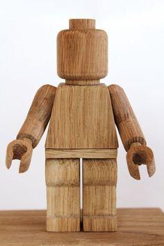 Legopoppetje van hout