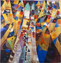 Annada Silk Art Scarf 'Escalation' – Saudi Gifts