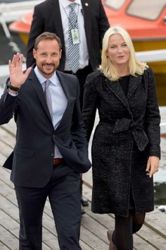Royal Family Around the World: Crown Prince Haakon & Crown Princess Mette-Marit Make Official Visit to Nordland - Day 1 on 09 September 2014