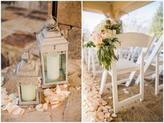 Wedding Ceremony Decor // Rustic Country Wedding in Blush Navy // Meet The Burks Photography