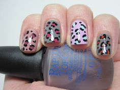 Leopard print in various colours