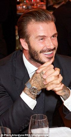 David Beckham enjoys night out at football gala to mark World AIDS Day | Daily Mail Online