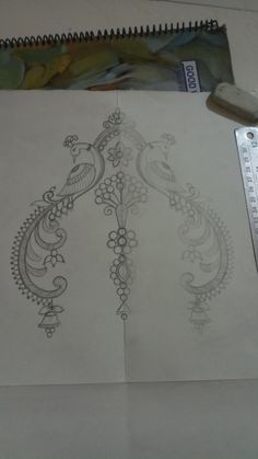 New embroidery designs by hand love 23 ideas Embroidery Motifs, Hand Embroidery Designs, Free Hand Drawing, Sleeve Designs, Blouse Designs, Beautiful Rangoli Designs, Peacock Design, Paper Design, Sewing Patterns