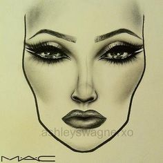 Beautiful MAC Face Chart by AshleyWagnerXO #makeup #FaceChart