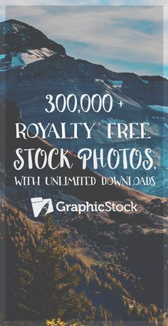 Get 12 months of unlimited downloads from 300,000 stunning stock photos, graphics, design layouts and more for just $99 with GraphicStock! There are no hidden licensing fees and everything you download is yours to keep forever.
