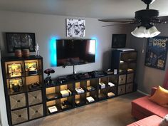 34 Latest Gamer Room Decoration Ideas is part of Gaming room setup - If you have an extra room in your home, make the most of it by creating a deluxe game room […] Boys Game Room, Game Room Basement, Basement Ideas, Teen Game Rooms, Basement Renovations, Small Game Rooms, Garage Game Rooms, Basement Ceilings, Basement Bars