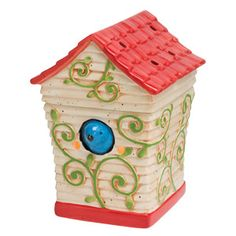 Birdhouse Scentsy Warmer PREMIUM Fanciful and fun, Birdhouse is sure to coax a smile! A vermilion-roofed birdhouse, accented with climbing green vines, houses a cheery bluebird. Raise the roof and you'll find a warmer dish sheltered inside. Candle Wax Warmer, Candles Online, Wax Warmers, Scented Wax, Scentsy, Blue Bird, Bird Houses, Decorative Boxes, August 2013