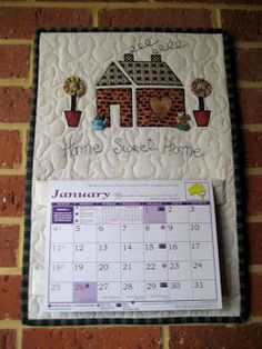 The Best Free Crafts Articles: Calendar Holder FREE Tutorial From Julia Camilleri of Julia's Place Blog