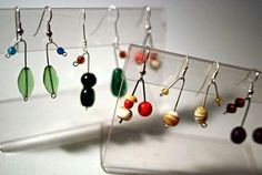 DIY Make Easy Two-Bead Earrings