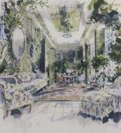 "Jeremiah Goodman - ""East Hampton Living Room"" 1967"