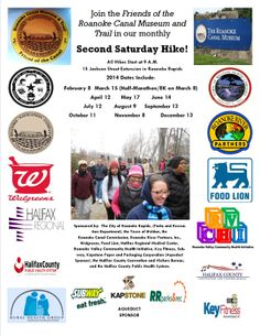 The March flyer for the Second Saturday Hike.