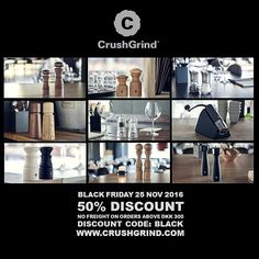 Danish Design and engineering.  Powered by CrushGrind.  50% Discount - only today! http://ift.tt/2feVsqc  #crushgrind #blackfriday #spices #cooking #danishdesign #peppermill #spicegrinder