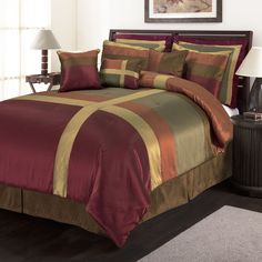 plum and gold bedding - Google Search