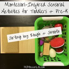 Montessori-Inspired Sensorial Activities for Toddlers and Preschoolers -- Sorting by Rough and Smooth