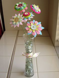 DIY Tutorial for these adorable flowers! LOVE them!