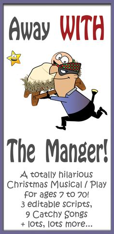 away with the manger christmas musical play a comical christmas play with a - Christmas Plays For Small Churches