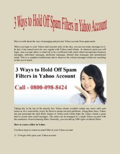 Here we talk about the way of managing and prevent Yahoo account from spam mails. When you login to your